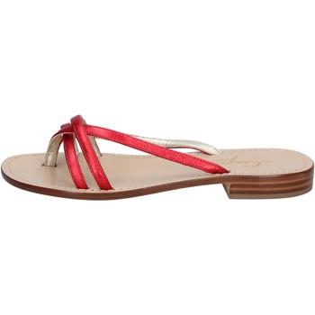 Παπούτσια Γυναίκα Σανδάλια / Πέδιλα Soleae sandali rosso pelle BY501 Rosso