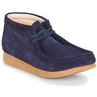 Παπούτσια Παιδί Μπότες Clarks Wallabee Bt Navy / Suede