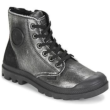 Παπούτσια Γυναίκα Μπότες Palladium PAMPA HI Black / Silver