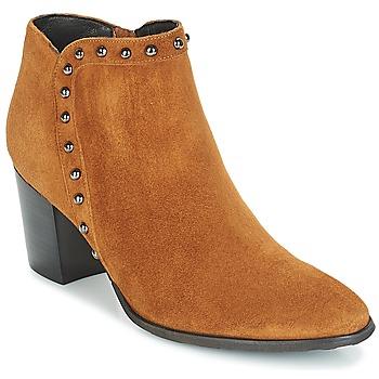Παπούτσια Γυναίκα Μποτίνια Myma POUTZ Camel