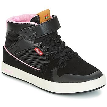 Παπούτσια Κορίτσι Ψηλά Sneakers Kickers GREADY MID CDT Black / Ροζ