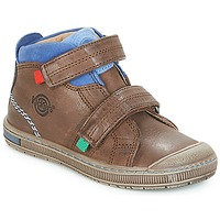 Παπούτσια Αγόρι Ψηλά Sneakers Kickers IGUTO Brown
