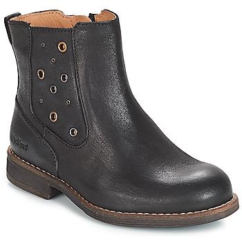 Παπούτσια Κορίτσι Μπότες για την πόλη Kickers SMAD Black