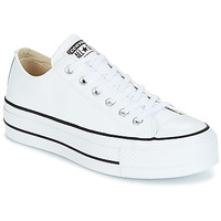 Παπούτσια Γυναίκα Χαμηλά Sneakers Converse CHUCK TAYLOR ALL STAR LIFT CLEAN OX LEATHER Άσπρο