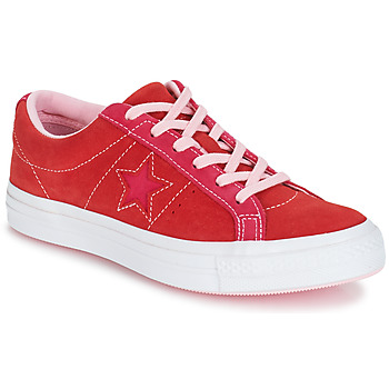Παπούτσια Γυναίκα Χαμηλά Sneakers Converse ONE STAR OX Red / Ροζ