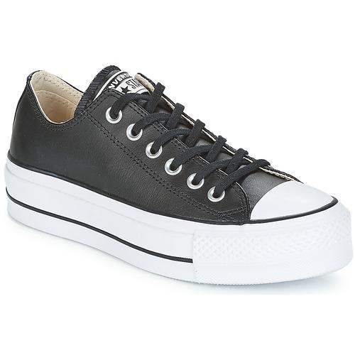 Παπούτσια Γυναίκα Χαμηλά Sneakers Converse CHUCK TAYLOR ALL STAR LIFT CLEAN OX Black / Άσπρο