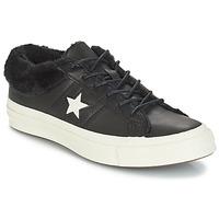 Παπούτσια Γυναίκα Χαμηλά Sneakers Converse ONE STAR LEATHER OX Black