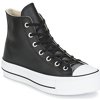 Παπούτσια Γυναίκα Ψηλά Sneakers Converse CHUCK TAYLOR ALL STAR LIFT CLEAN LEATHER HI Black