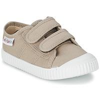 Παπούτσια Παιδί Χαμηλά Sneakers Victoria BLUCHER LONA DOS VELCROS Beige