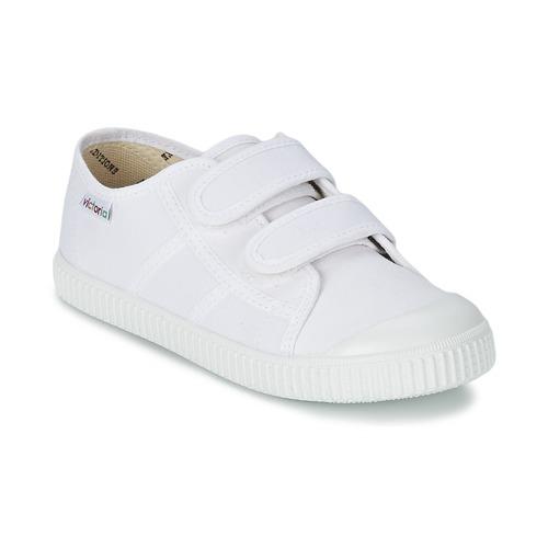 Παπούτσια Παιδί Χαμηλά Sneakers Victoria BLUCHER LONA DOS VELCROS Άσπρο