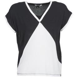 Υφασμάτινα Γυναίκα T-shirt με κοντά μανίκια Nikita NEWSON Black / Άσπρο