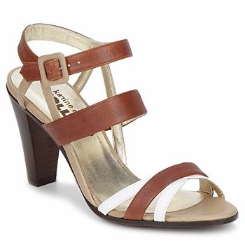 Παπούτσια Γυναίκα Σανδάλια / Πέδιλα Karine Arabian JOLLY Cognac / Beige / Άσπρο