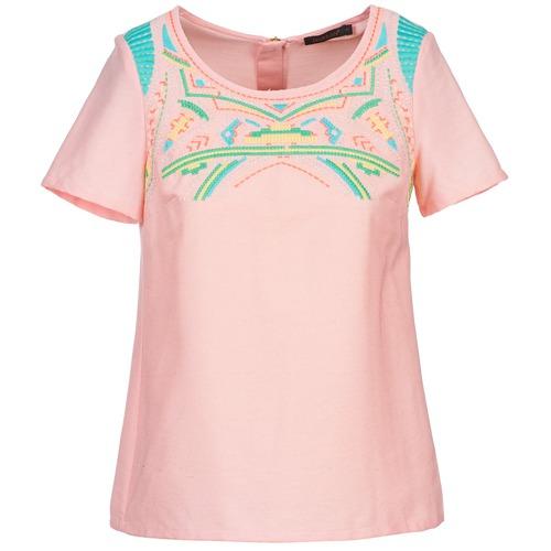 Υφασμάτινα Γυναίκα Μπλούζες Color Block ADRIANA Ροζ