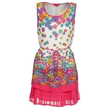 Υφασμάτινα Γυναίκα Κοντά Φορέματα Derhy BARMAN ECRU / ροζ