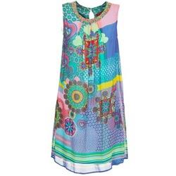 Υφασμάτινα Γυναίκα Κοντά Φορέματα Derhy BARDE μπλέ / Green / Multicolore