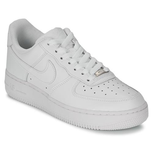 Παπούτσια Γυναίκα Χαμηλά Sneakers Nike AIR FORCE 1 07 LEATHER W Άσπρο