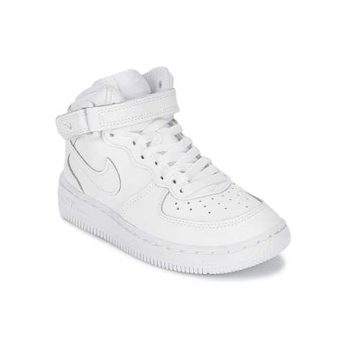 Παπούτσια Αγόρι Ψηλά Sneakers Nike AIR FORCE 1 MID Άσπρο