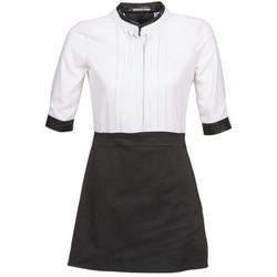 Υφασμάτινα Γυναίκα Κοντά Φορέματα La City COLUMBA Black / Άσπρο