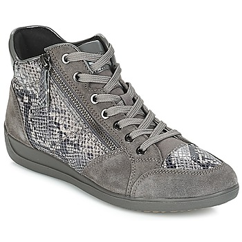 Παπούτσια Γυναίκα Χαμηλά Sneakers Geox D MYRIA Grey / Fonce