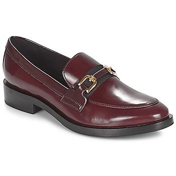 Παπούτσια Γυναίκα Μοκασσίνια Geox DONNA BROGUE Bordeaux / Black