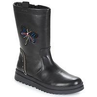 Παπούτσια Κορίτσι Μπότες για την πόλη Geox J GILLYJAW GIRL Black