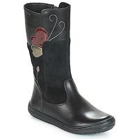 Παπούτσια Κορίτσι Μπότες για την πόλη Geox J HADRIEL Black