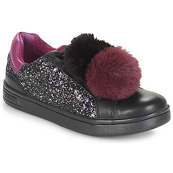 Παπούτσια Κορίτσι Χαμηλά Sneakers Geox J DJROCK GIRL Black / Violet