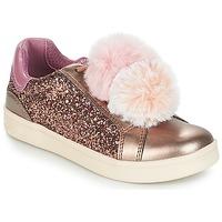 Παπούτσια Κορίτσι Χαμηλά Sneakers Geox J DJROCK GIRL Beige / Ροζ