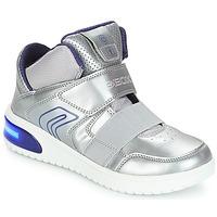 Παπούτσια Κορίτσι Ψηλά Sneakers Geox J XLED GIRL Silver
