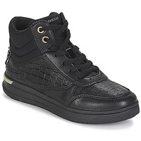 Παπούτσια Κορίτσι Ψηλά Sneakers Geox J AVEUP GIRL Black / Gold
