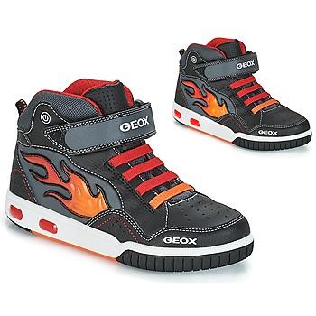 Παπούτσια Αγόρι Ψηλά Sneakers Geox JR GREGG Black / Red