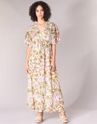 Υφασμάτινα Γυναίκα Μακριά Φορέματα Derhy ALEXANDRIN Ecru