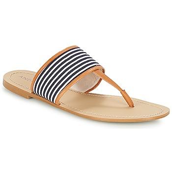 Παπούτσια Γυναίκα Σαγιονάρες André JERSEY Rayé / Μπλέ