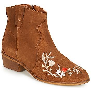 Παπούτσια Γυναίκα Μπότες André WEST Camel