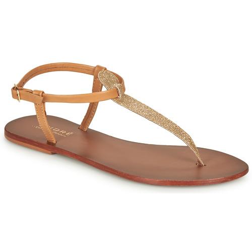 Παπούτσια Γυναίκα Σανδάλια / Πέδιλα André GLITTER Camel