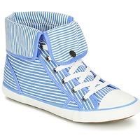 Παπούτσια Γυναίκα Ψηλά Sneakers André GIROFLE Άσπρο / Μπλέ
