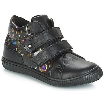 Παπούτσια Κορίτσι Χαμηλά Sneakers Citrouille et Compagnie JUPETTE Black / Fleurs