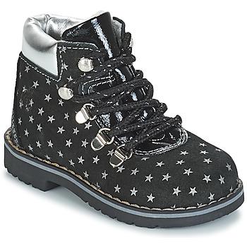 Παπούτσια Κορίτσι Μπότες Citrouille et Compagnie JORDA Black / Argenté