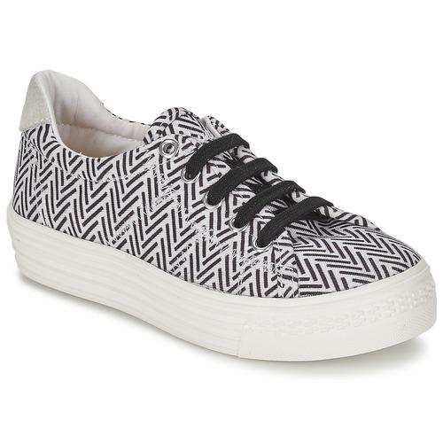 Παπούτσια Κορίτσι Χαμηλά Sneakers Shwik STEP LO CUT Black / Άσπρο