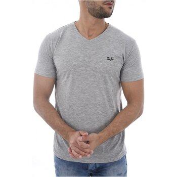 Υφασμάτινα Άνδρας T-shirt με κοντά μανίκια V1969 By Versace 1969 MODENE Grey