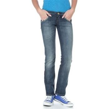 Υφασμάτινα Γυναίκα Τζιν σε ίσια γραμμή Lee Lynn L38418HD blue