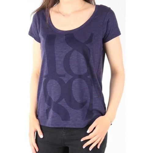 Υφασμάτινα Γυναίκα T-shirt με κοντά μανίκια Lee T-Shirt  Scoop Mystic Plum 40KFL87 blue