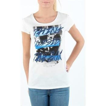 Υφασμάτινα Γυναίκα T-shirt με κοντά μανίκια Lee T-shirt Damski SLIM T CLOUD DANCER L41MEVHA white