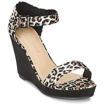 Παπούτσια Γυναίκα Σανδάλια / Πέδιλα Moony Mood IVONGA Black / Leopard