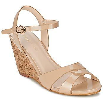Παπούτσια Γυναίκα Σανδάλια / Πέδιλα Moony Mood MAINTIRANA Beige / Verni