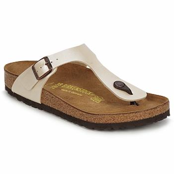 Παπούτσια Γυναίκα Σαγιονάρες Birkenstock GIZEH Κρεμ