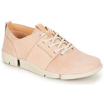 Παπούτσια Γυναίκα Χαμηλά Sneakers Clarks Tri Caitlin Nude / Pink