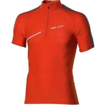 Υφασμάτινα Γυναίκα T-shirt με κοντά μανίκια Asics 1/2 ZIP TOP FW12 421016-0540 orange