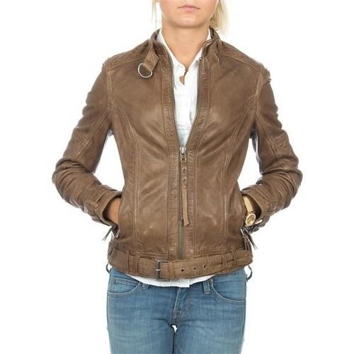 Υφασμάτινα Γυναίκα Σακάκι / Blazers Wrangler skórzana  Montana WR4044ZCBR brown