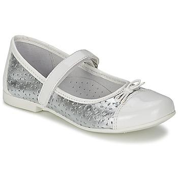 Παπούτσια Κορίτσι Μπαλαρίνες Citrouille et Compagnie JILENA Argenté / άσπρο